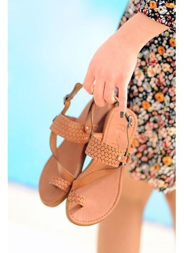 Pembe Potin A211-20 Kadın sandalet A211-20 Taba